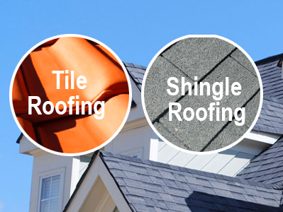 The Difference between Tile and Shingle Roofing
