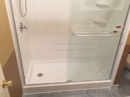 Bath Planet White Shower Remodel