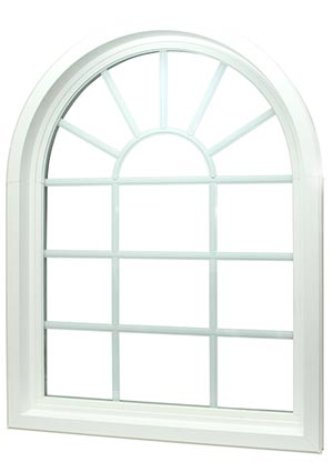 Aspect arch-shaped window