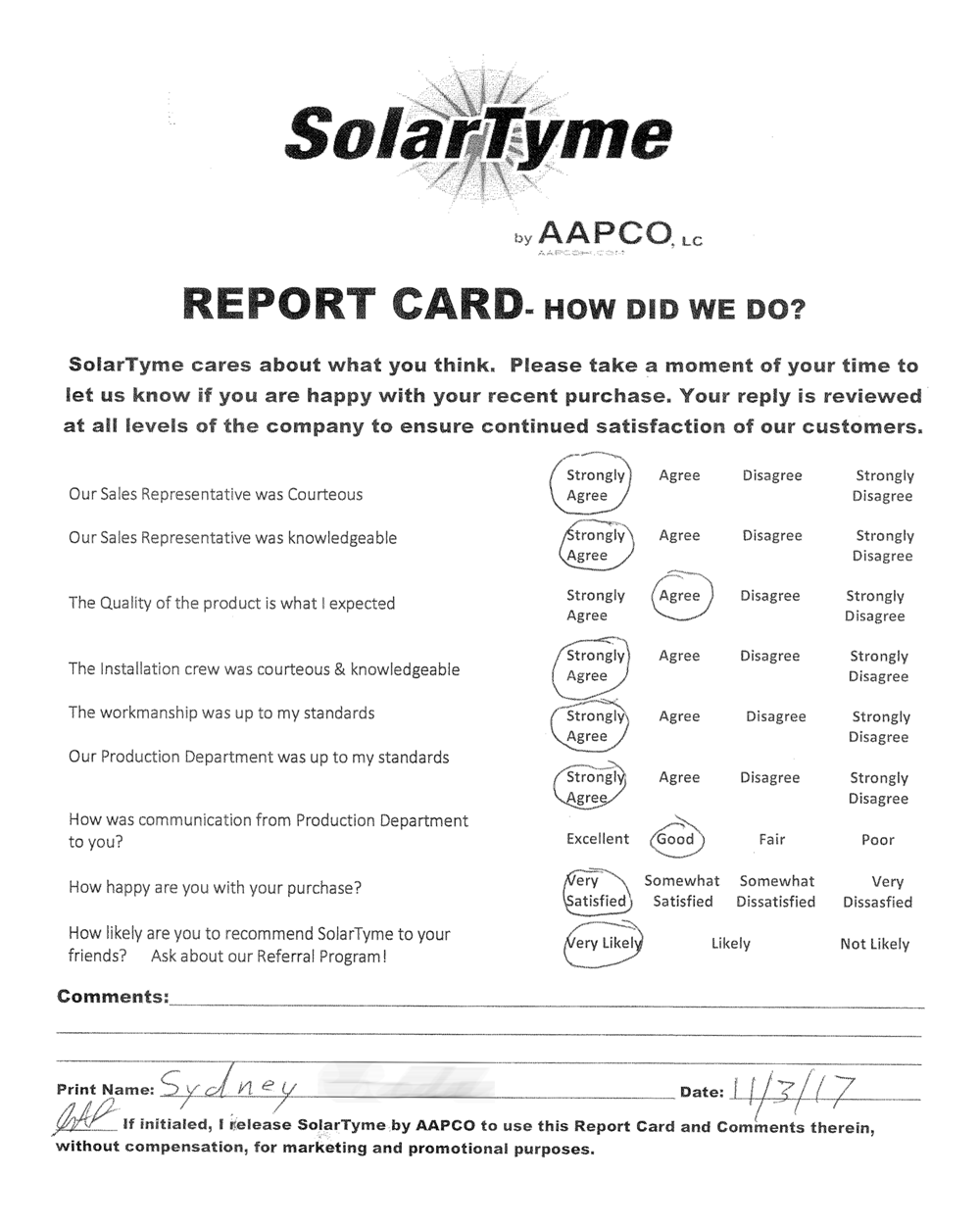 Sydney R's SolarTyme Review